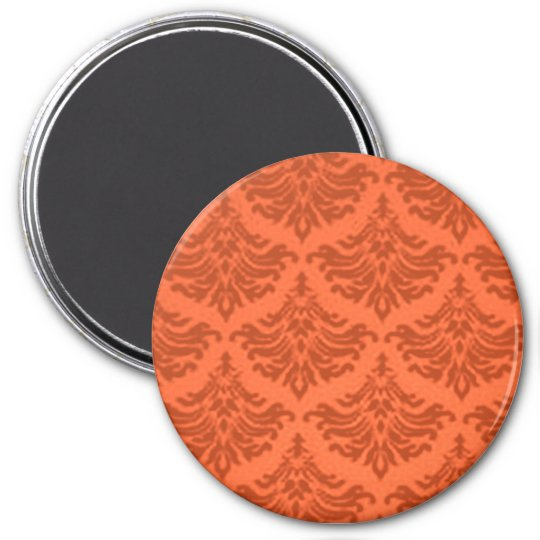 Retro Flourish Orange Magnet
