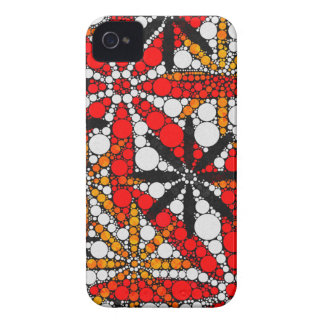 Retro Flower Abstract iPhone 4 Case-Mate Cases