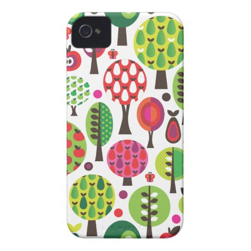 Retro flower apple butterfly pattern blackberry blackberry cases
