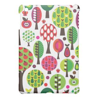 Retro flower apple butterfly pattern ipad case