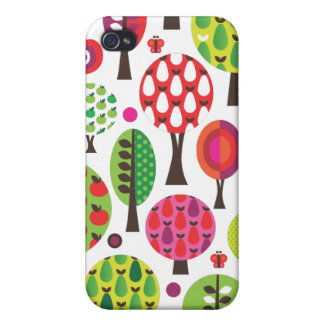 Retro flower apple butterfly pattern iphone case cover for iPhone 4
