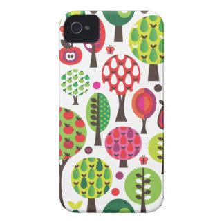 Retro flower apple butterfly pattern iphone case