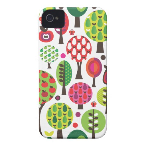 Retro flower apple butterfly pattern iphone case iPhone 4 cover