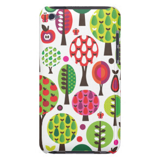 Retro flower apple butterfly pattern ipod case barely there iPod case