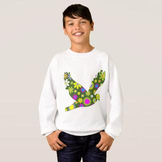 Retro Flower Bird Children's Sweatshirt