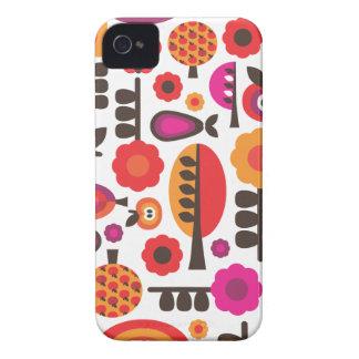 Retro flower butterfly pattern iphone case