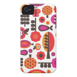 Retro flower butterfly pattern iphone case Case-Mate iPhone 4 cases