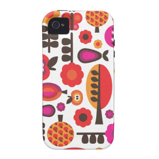 Retro flower butterfly pattern iphone case iPhone 4/4S case