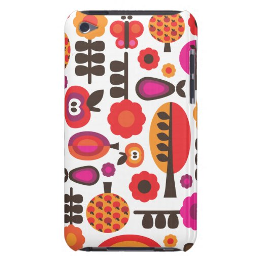 Retro flower butterfly pattern ipod case barely there iPod cases