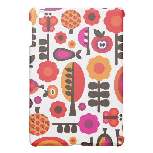 Retro flower butterfly pern  iPad mini cases