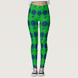Retro Flower Leggings