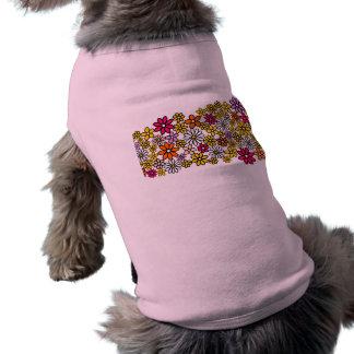 Retro Flower pattern Sleeveless Dog Shirt