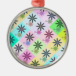 Retro Flower Pop Art Design Christmas Ornament