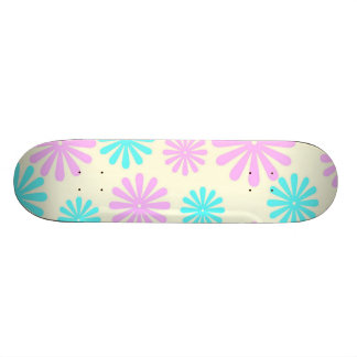 Retro Flower Power Custom Skateboard