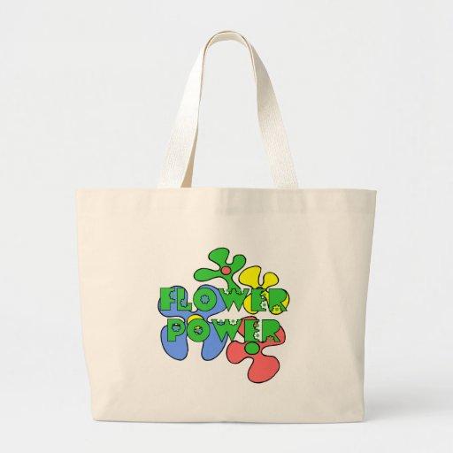 Retro Flower Power Tote Bag