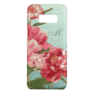 Retro Flower Pretty in Pink Chintz Peony n Bird Case-Mate Samsung Galaxy S8 Case