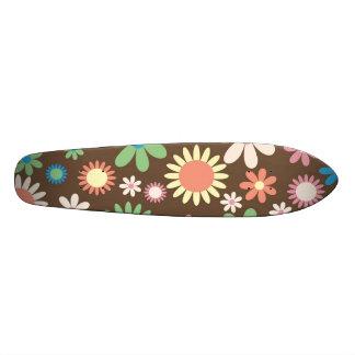 Retro Flower Skateboard Deck