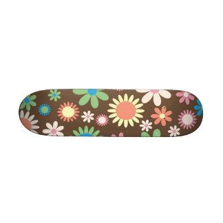 Retro Flower Custom Skate Board