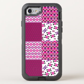 Retro flower skull polka dot OtterBox defender iPhone 8/7 case