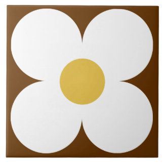 retro flower tile