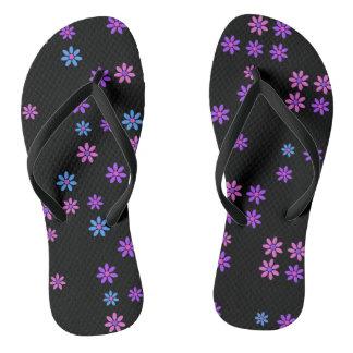 Retro Flowers Flip Flops