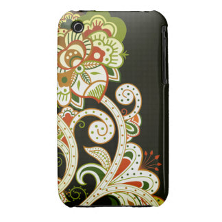 Retro Flowers iPhone 3  Case iPhone 3 Covers
