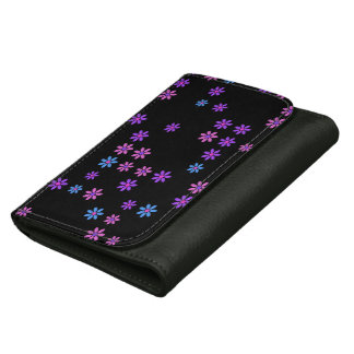 Retro Flowers Leather Wallet