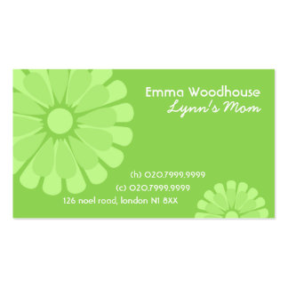 Retro Flowers Mommy Business Card