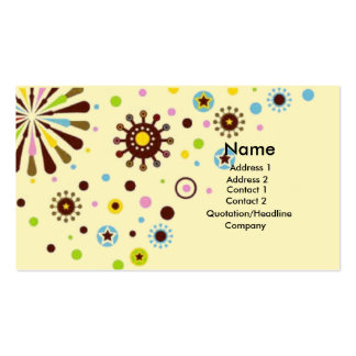Retro flowers pack of standard business cards