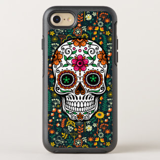 Retro Flowers & Sugar Skull Illustration OtterBox Symmetry iPhone 8/7 Case