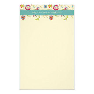 Retro Flowers · Teal · Stationery