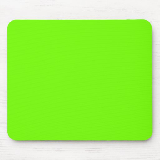 Retro Fluoro Lime-Green Collection Mousepads