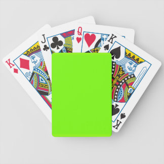 Retro Fluoro Lime-Green Collection Playing Cards