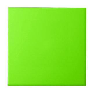 Retro Fluoro Lime-Green Collection Tile