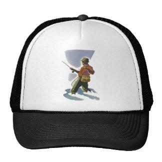 Retro Fly Fishing Mesh Hat