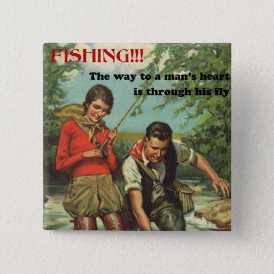 Retro Fly Fishing Pin