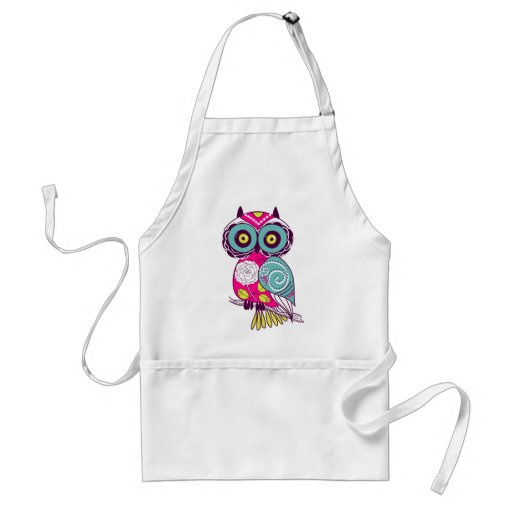 Retro Folk Art Owl Aprons