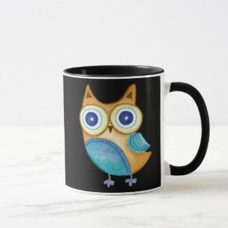 Retro Folk Art Owl Mug