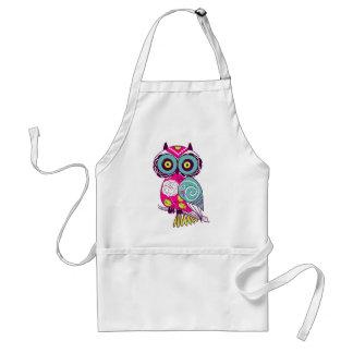 Retro Folk Art Owl Standard Apron