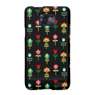 Retro folk floral pattern samsung galaxy SII cover