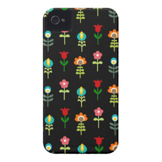 Retro folk floral pattern Case-Mate iPhone 4 cases