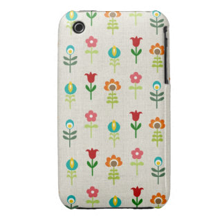Retro folk flower pattern iPhone 3 covers