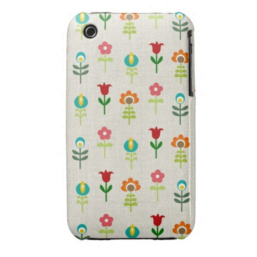 Retro folk flower pattern iPhone 3 covers