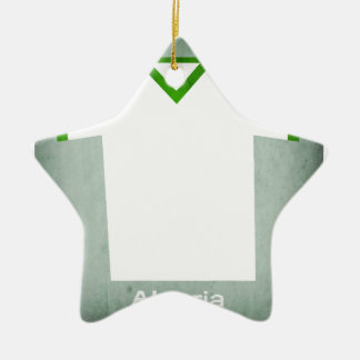 Retro Football Jersey Algeria Christmas Ornament