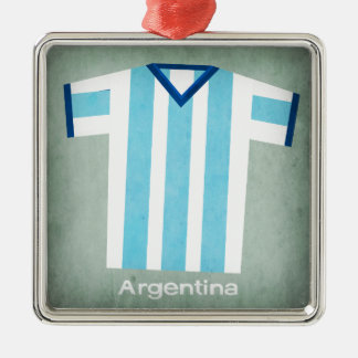 Retro Football Jersey Argentina Christmas Ornament
