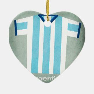 Retro Football Jersey Argentina Christmas Ornament