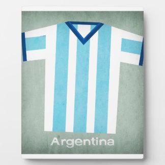 Retro Football Jersey Argentina Plaque