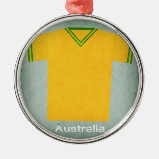 Retro Football Jersey Australia Christmas Ornament