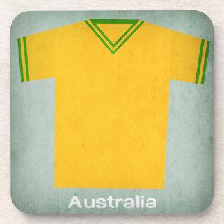 Retro Football Jersey Australia Beverage Coaster