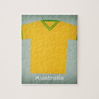 Retro Football Jersey Australia Jigsaw Puzzle